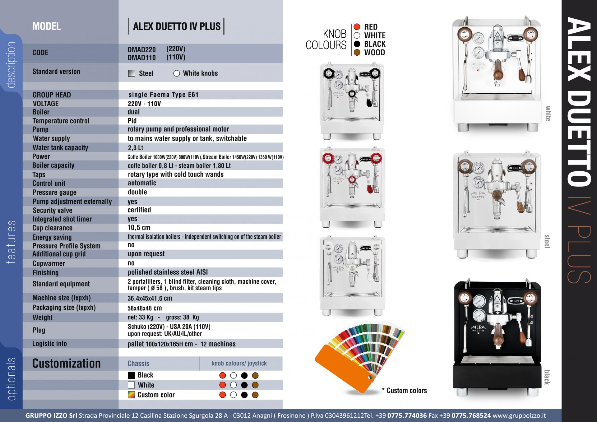 Listino alex duetto iv plus eng sito rev02
